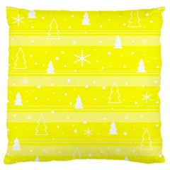 Yellow Xmas Standard Flano Cushion Case (one Side) by Valentinaart
