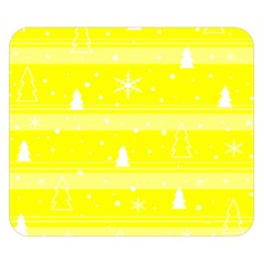 Yellow Xmas Double Sided Flano Blanket (small)  by Valentinaart
