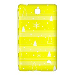 Yellow Xmas Samsung Galaxy Tab 4 (7 ) Hardshell Case  by Valentinaart