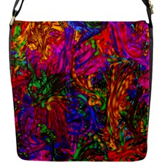 Hot Liquid Abstract B  Flap Messenger Bag (s) by MoreColorsinLife