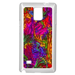 Hot Liquid Abstract B  Samsung Galaxy Note 4 Case (white) by MoreColorsinLife