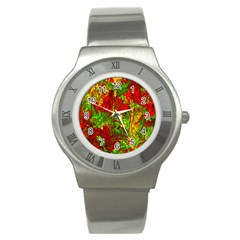 Hot Liquid Abstract C Stainless Steel Watch by MoreColorsinLife