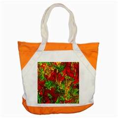 Hot Liquid Abstract C Accent Tote Bag by MoreColorsinLife
