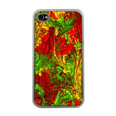 Hot Liquid Abstract C Apple Iphone 4 Case (clear)