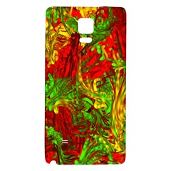 Hot Liquid Abstract C Galaxy Note 4 Back Case by MoreColorsinLife