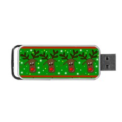Reindeer Pattern Portable Usb Flash (two Sides) by Valentinaart