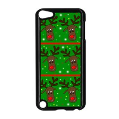 Reindeer Pattern Apple Ipod Touch 5 Case (black) by Valentinaart