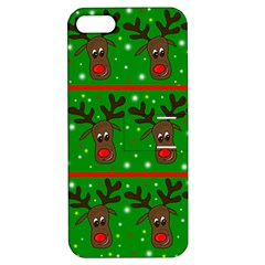 Reindeer Pattern Apple Iphone 5 Hardshell Case With Stand by Valentinaart