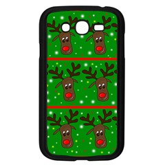 Reindeer Pattern Samsung Galaxy Grand Duos I9082 Case (black) by Valentinaart