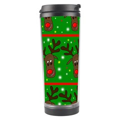 Reindeer Pattern Travel Tumbler by Valentinaart