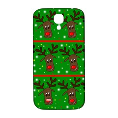 Reindeer Pattern Samsung Galaxy S4 I9500/i9505  Hardshell Back Case by Valentinaart