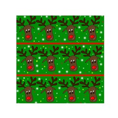 Reindeer Pattern Small Satin Scarf (square) by Valentinaart