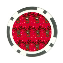 Reindeer Xmas Pattern Poker Chip Card Guards (10 Pack)  by Valentinaart