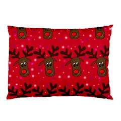 Reindeer Xmas Pattern Pillow Case (two Sides) by Valentinaart