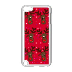 Reindeer Xmas Pattern Apple Ipod Touch 5 Case (white) by Valentinaart