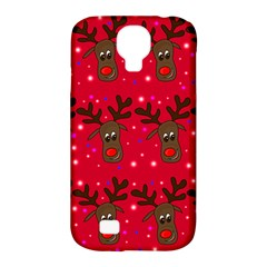 Reindeer Xmas Pattern Samsung Galaxy S4 Classic Hardshell Case (pc+silicone) by Valentinaart