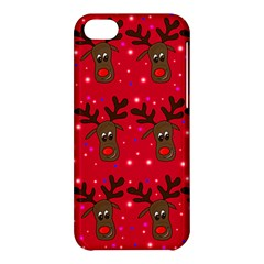 Reindeer Xmas Pattern Apple Iphone 5c Hardshell Case