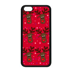 Reindeer Xmas Pattern Apple Iphone 5c Seamless Case (black)