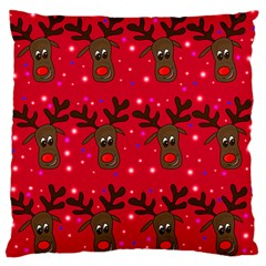 Reindeer Xmas Pattern Standard Flano Cushion Case (one Side) by Valentinaart