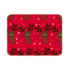Reindeer Xmas Pattern Double Sided Flano Blanket (mini)  by Valentinaart