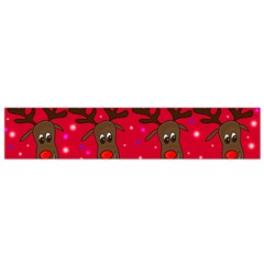Reindeer Xmas Pattern Flano Scarf (small) by Valentinaart