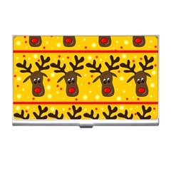 Christmas Reindeer Pattern Business Card Holders by Valentinaart