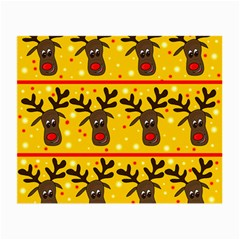 Christmas Reindeer Pattern Small Glasses Cloth (2 Side)