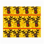 Christmas reindeer pattern Small Glasses Cloth (2-Side) Front