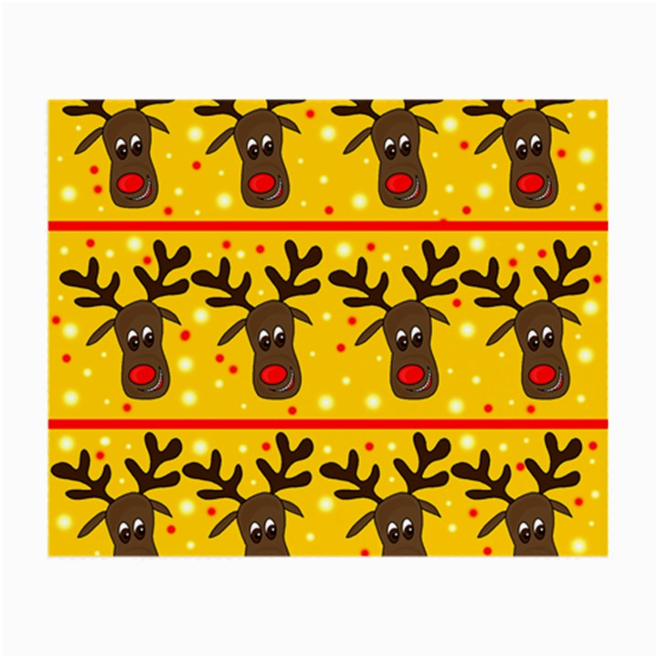 Christmas reindeer pattern Small Glasses Cloth (2-Side)