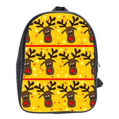 Christmas Reindeer Pattern School Bags(large)  by Valentinaart