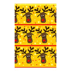 Christmas Reindeer Pattern Shower Curtain 48  X 72  (small)  by Valentinaart