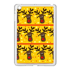 Christmas Reindeer Pattern Apple Ipad Mini Case (white) by Valentinaart