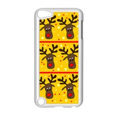 Christmas Reindeer Pattern Apple Ipod Touch 5 Case (white) by Valentinaart