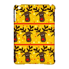 Christmas Reindeer Pattern Apple Ipad Mini Hardshell Case (compatible With Smart Cover) by Valentinaart