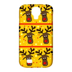 Christmas Reindeer Pattern Samsung Galaxy S4 Classic Hardshell Case (pc+silicone) by Valentinaart