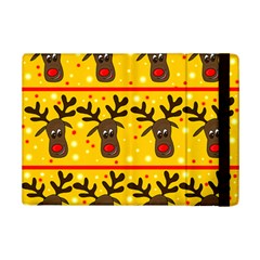 Christmas Reindeer Pattern Ipad Mini 2 Flip Cases by Valentinaart