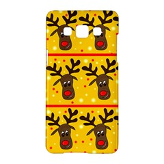 Christmas Reindeer Pattern Samsung Galaxy A5 Hardshell Case  by Valentinaart