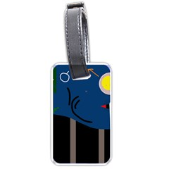 Abstract Night Landscape Luggage Tags (one Side)  by Valentinaart