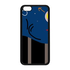 Abstract Night Landscape Apple Iphone 5c Seamless Case (black)