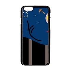 Abstract Night Landscape Apple Iphone 6/6s Black Enamel Case by Valentinaart
