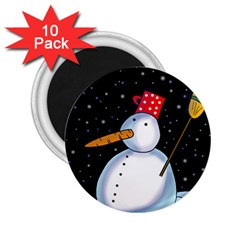 Lonely Snowman 2 25  Magnets (10 Pack)  by Valentinaart