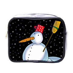 Lonely Snowman Mini Toiletries Bags by Valentinaart
