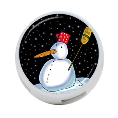 Lonely Snowman 4 Port Usb Hub (two Sides)  by Valentinaart