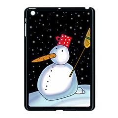 Lonely Snowman Apple Ipad Mini Case (black) by Valentinaart