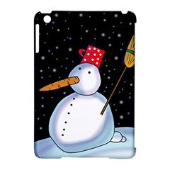 Lonely Snowman Apple Ipad Mini Hardshell Case (compatible With Smart Cover) by Valentinaart