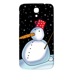 Lonely Snowman Samsung Galaxy Mega I9200 Hardshell Back Case by Valentinaart