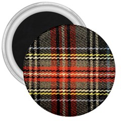 Fabric Texture Tartan Color  3  Magnets by AnjaniArt