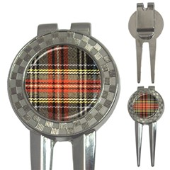 Fabric Texture Tartan Color  3 In 1 Golf Divots