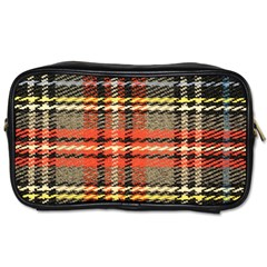 Fabric Texture Tartan Color  Toiletries Bags 2 Side by AnjaniArt
