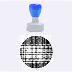Fabric Texture Tartan Color  Rubber Round Stamps (medium)